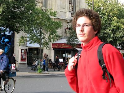 Leaving Cafe le Zimmer, Paris