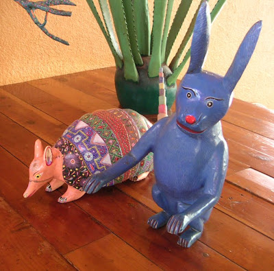 Oaxaca-style Armadillo and Rabbit