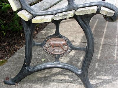 Catamount Logo on a Bench, Astoria, Oregon