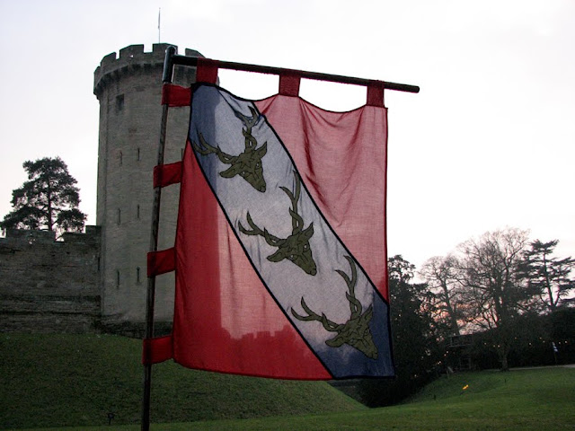 Stag-head Flag at Warwick Castle, England