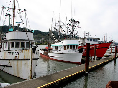Three Fishing Boats, Astoria, Oregon