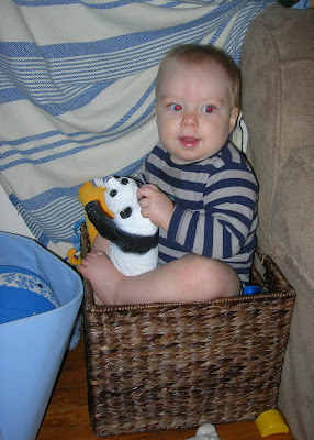 Teagan with plastic panda