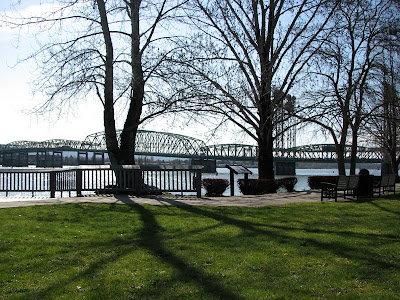 The I-5 Bridge and Old Apple Tree Park, Vancouver, Washington