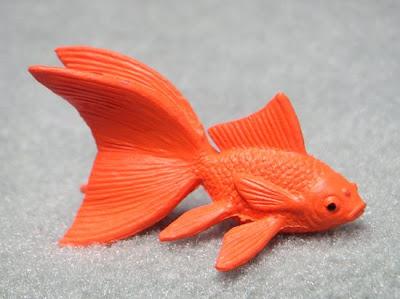 Plastic fantail goldfish - toy goldfish