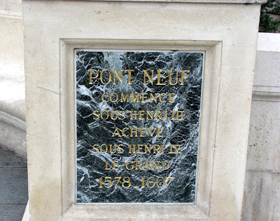 Dates of Pont Neuf