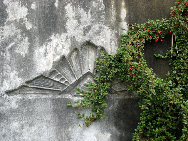 Design Detail in Retaining Wall, Astoria, Oregon