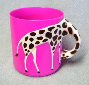 Giraffe plastic drinking cup for children