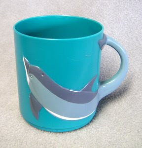 Dolphin plastic drinking cup for children