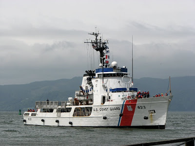 Coast Guard Cutter, Steadfast, on the river in Astoria, Oregon