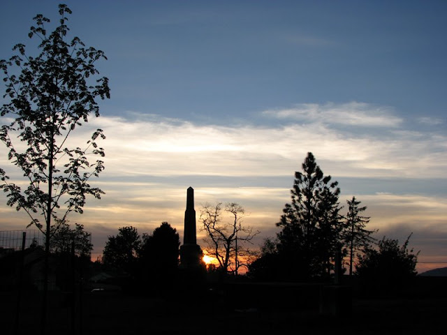 Sunset, Pioneer Cemetery, Astoria, Oregon