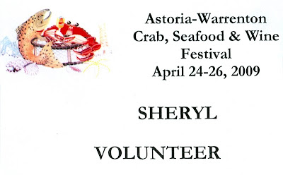 Volunteer Badge, Wine and Seafood Festival
