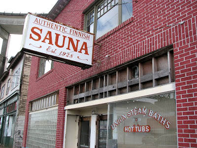 Authentic Finnish Sauna (Union Steam Baths, Hot Tubs), Astoria, Oregon