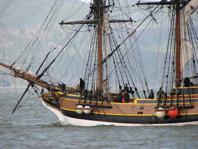 The Lady Washington on the Columbia River at Astoria, Oregon