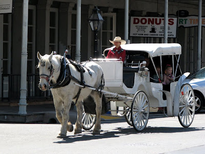 Old-time buggy ride in Old Town Sacramento, California