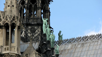 Sculptures Atop Notre Dame Cathedral, Paris