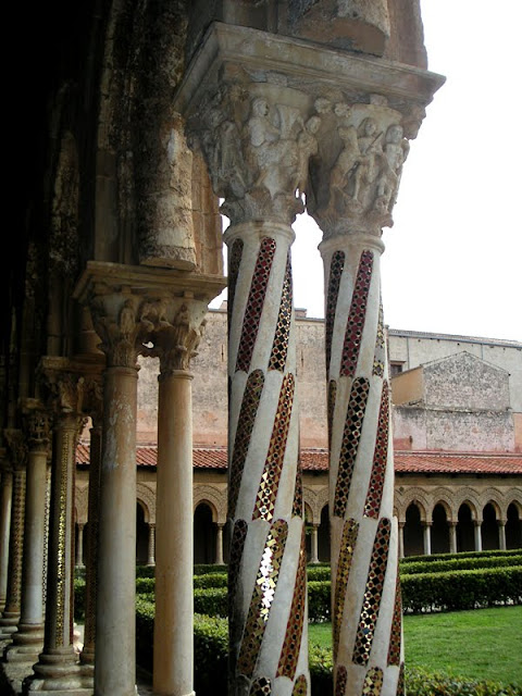 The abbey cloister at Monreale, Sicily
