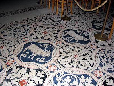 Capricorn and Taurus on the floor of St. Denis Basilica