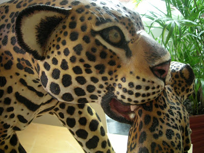 Mother and Baby Jaguar, Hotel Lobby, Manaus, Brazil