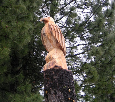 Carved Wood Eagle