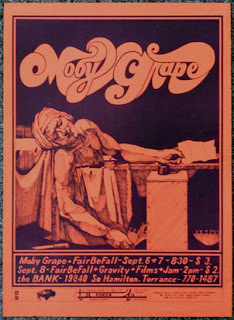 Moby Grape poster from The Bank in Torrance