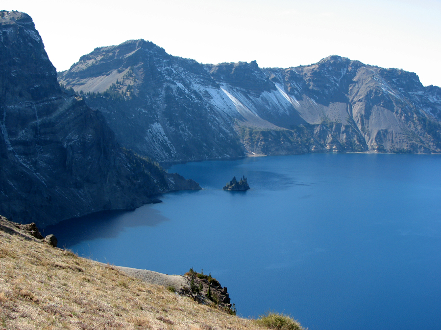 Crater Lake, Oregon, looking very, very blue