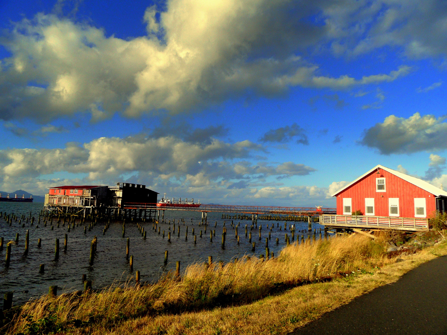 Amazing Sky and Net Shed, Astoria, Oregon