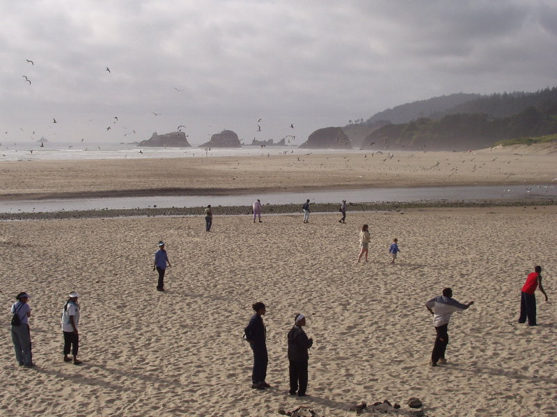 Volleyball at Cannon Beach