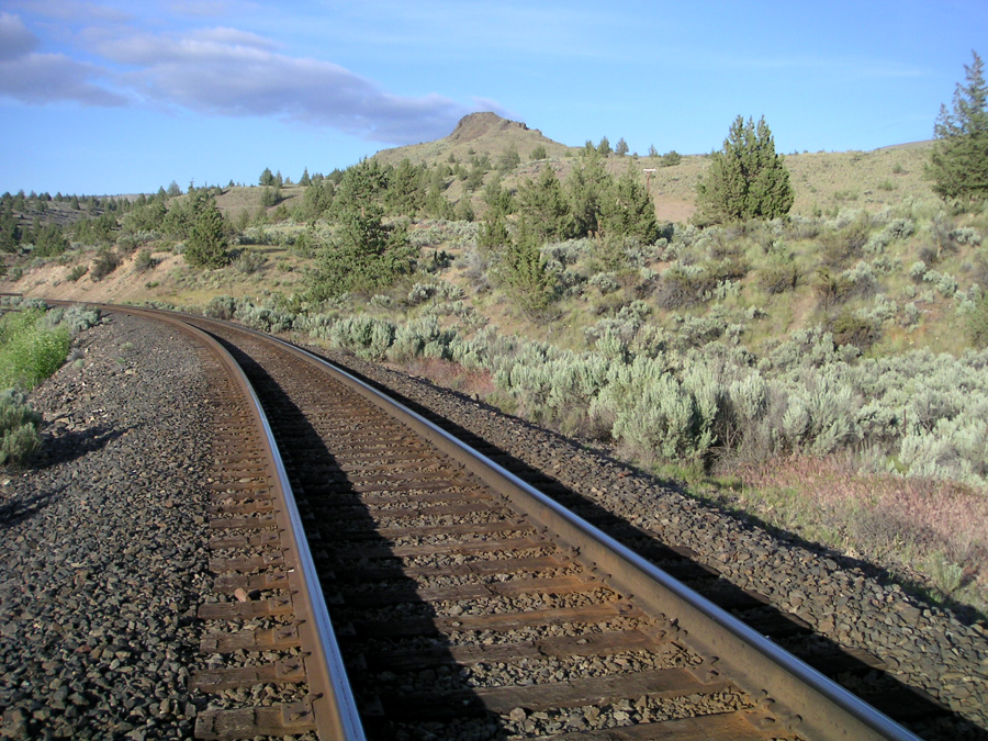 Train Tracks in South Junction, Oregon
