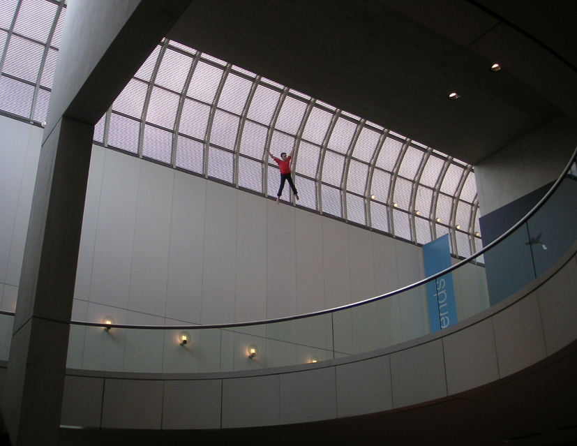Suspended from the ceiling at MIT