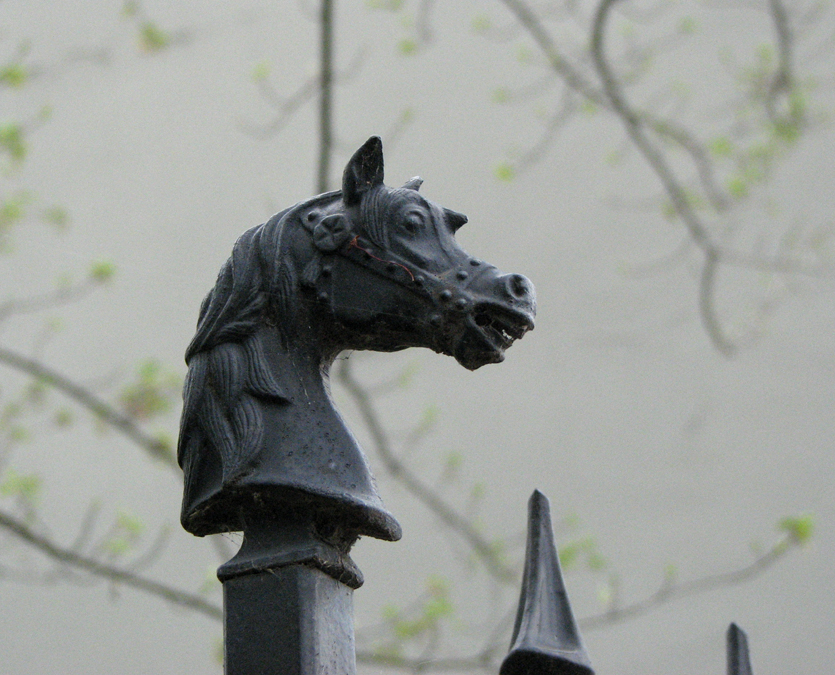 Horse on a Fence Spike