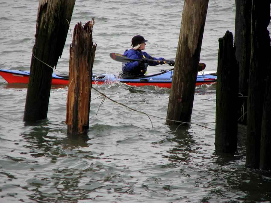Kayaking on the Columbia River