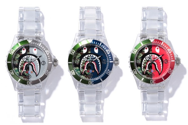 A Bathing Ape Clear Shark Bapex Watch Walauwei Com