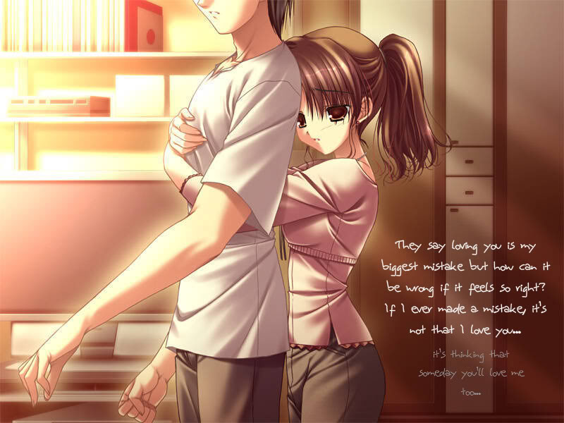 Anime Couple Sad Girl Photo