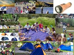 Campamento, recreación y elementos del campamento