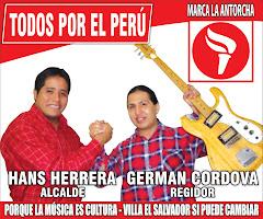 VILLA EL SALVADOR CON TODOS POR EL PERU. HANS HERRERA ALCALDE 2011. MARCA LA ANTORCHA