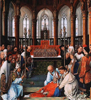 painting of The Exhumation of St Hubert