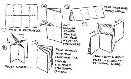 Как сделать из бумаги маленькою книжку 803