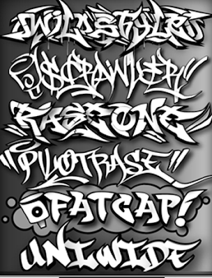 DESIGN GRAFFITI ALPHABET  STENCIL
