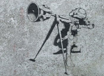 DESIGN GRAFFITI STENCIL FIGURE-BJORK GRANADA SPAIN