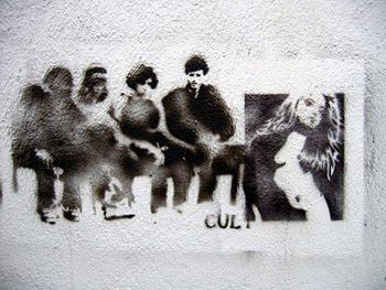 Design Graffiti Stencil Figure-bjork Grana Spain, Figure, Animate