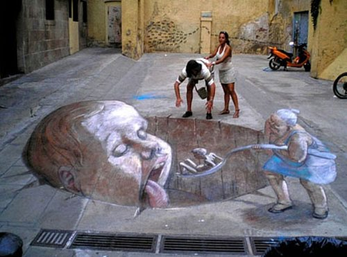Best graffiti 2011 artists most amazing 3d street in the for 3d street painting mural art