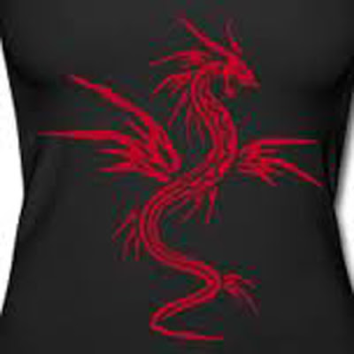 Red, Black, Dragon, Style, Graffiti, Design, Gallery, Red and Black Dragon