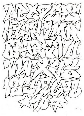 http://graffityartamazing.blogspot.com/, Graphic, A-Z Graffiti sketch