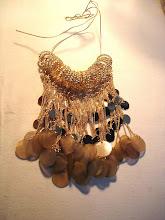 goldie + horn discs pendants