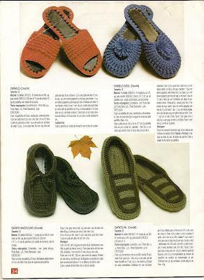 chinelos de croche