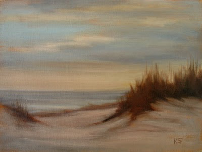 grassy dune beach seascape