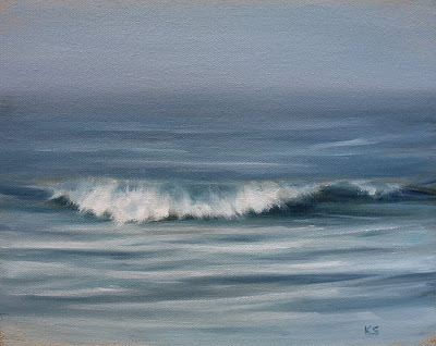 Foggy Ocean Waves art by Kerri Settle