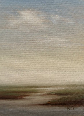foggy marsh oil painting by Kerri Settle