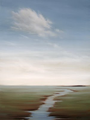 Lonely Cloud Marshland Landscape by Kerri Settle