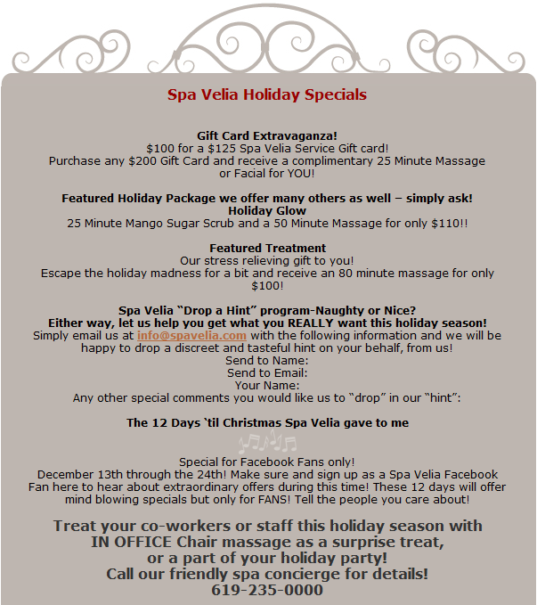Weddings by lindsy christmas deals are in full swing and for 12 days of christmas salon specials